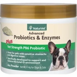 NaturVet Advanced Probiotics & Enzymes Plus Vet Strength PB6 Probiotic Cat & Dog Powder, 4-oz jar found on Bargain Bro Philippines from Chewy.com for $20.99