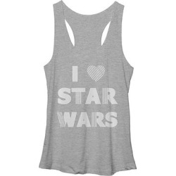 Fifth Sun Women's Tank Tops ATH - Heather 'I Love Star Wars' Racerback Tank - Women found on Bargain Bro from zulily.com for USD $12.91
