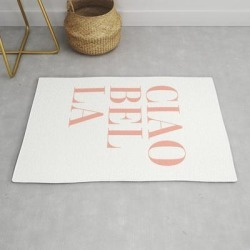 Modern Throw Rug | Ciao Bella by Standard Prints / Posters - 2' x 3' - Society6 found on Bargain Bro India from Society6 for $34.30