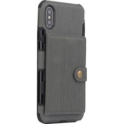 Shou Cellular Phone Cases Grey - Gray Brushed Wallet Phone Case found on Bargain Bro India from zulily.com for $9.99