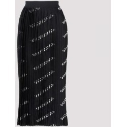 Black Logo Printed Pleated Skirt S - Black - Balenciaga Skirts found on Bargain Bro Philippines from lyst.com for $724.00