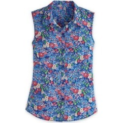 Women's Plus Fiesta Sleeveless Shirt, Floral 3XL found on Bargain Bro India from Blair.com for $31.99