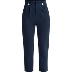 Ankle Length Paperbag Trousers In Navy - Blue - Paisie Pants found on MODAPINS from lyst.com for USD $172.00