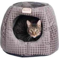 Armarkat 16-in Cave Shape Cat Bed, Bronze & Silver