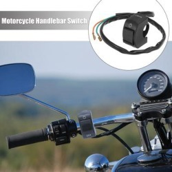 """DC 12V 7/8""""Motorcycle Handlebar Switch Scooter Headlight Toggle Switch - Black"""