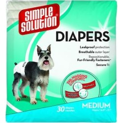 Simple Solution Disposable Female Dog Diapers, Medium: 16.5 to 21-in waist found on Bargain Bro Philippines from Chewy.com for $30.49
