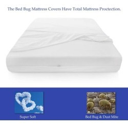 ONETAN, Mattress or Box Spring Protector Covers, Bed Bug Proof/Water Proof, Fits Sleep 10-13 Inch ( Set of 2 ) (Full), Black found on Bargain Bro from Overstock for USD $50.53