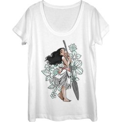 Fifth Sun Women's Tee Shirts WHITE - Moana White Sketch Scoop Neck Tee - Women found on Bargain Bro from zulily.com for USD $12.91
