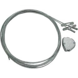 General 196012 - 16' Speed Link Wire Locking Safety Cable (SLD2Y300L5 SPEED LINK Y TOGGLE 2MM, 300MM, 5M LONG) found on Bargain Bro Philippines from eLightBulbs for $14.99