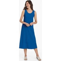 Women's Take It Easy Sleeveless Dress, Royal Blue M Misses found on Bargain Bro from Blair.com for USD $15.19