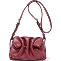 Bloomy Gathered Leather Shoulder Bag - Red - Valentino Garavani Shoulder Bags found on Bargain Bro from lyst.com for USD $712.12