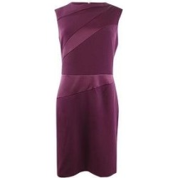 DKNY Women's Cap-Sleeve Sheath Dress (Currant - 8)(polyester) found on Bargain Bro from Overstock for USD $49.39