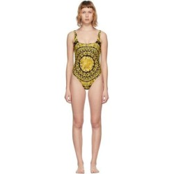 Gold Barocco One-piece Swimsuit - Green - Versace Beachwear found on Bargain Bro from lyst.com for USD $494.00