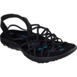 Skechers Women's Sandals BLK - Black Reggae Slim Forget Me Knot Sandal - Women found on Bargain Bro India from zulily.com for $44.99
