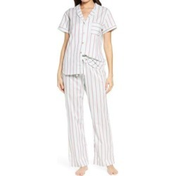 UGG Rosan Stripe Pajamas - White - Ugg Nightwear found on Bargain Bro Philippines from lyst.com for $88.00