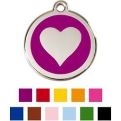 Red Dingo Heart Personalized Stainless Steel Dog & Cat ID Tag, Purple, Small found on Bargain Bro India from Chewy.com for $14.99