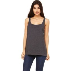 Women's Relaxed Jersey Dk Grey Heather Tank (L), Gray found on Bargain Bro India from Overstock for $9.49
