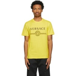 Yellow Medusa Logo T-shirt - Yellow - Versace T-Shirts found on Bargain Bro from lyst.com for USD $209.00