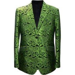Mens Apple Green & Black Paisley Dinner Jacket By Alberto Nardoni Brand Designer found on Bargain Bro from Overstock for USD $133.00