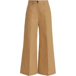 Cotton-gabardine Wide-leg Pants - Brown - Valentino Pants found on Bargain Bro from lyst.com for USD $638.40