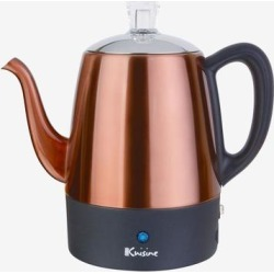 Euro Cuisine 4-Cup Percolator by Euro Cuisine in Copper found on Bargain Bro Philippines from Brylane Home for $59.99
