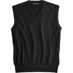 Men's Marquis Signature Solid V-Neck Vest, Black L found on Bargain Bro Philippines from Blair.com for $29.99