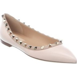 Valentino Rockstud Leather Flat (37), Women's, Pink found on Bargain Bro Philippines from Overstock for $623.69