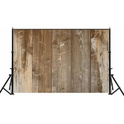 Photography Backdrop Studio Photo Prop 5' x 7' Camel Faded Plank found on Bargain Bro Philippines from Overstock for $32.29