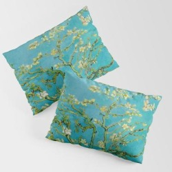 Pillow Sham   Almond Blossoms Painting By Vincent Van Gogh Oil Painting by Vincent Van Gogh - STANDARD SET OF 2 - Cotton - Society6 found on Bargain Bro from Society6 for USD $30.39