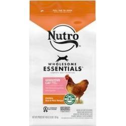 Nutro Wholesome Essentials Sensitive Cat Chicken, Rice & Peas Recipe Dry Cat Food, 3-lb bag