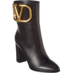 Valentino Vlogo 85 Leather Bootie (36.5), Women's, Black found on Bargain Bro Philippines from Overstock for $1154.99