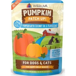 Weruva Pumpkin Patch Up! Pumpkin with Coconut Oil & Flaxseeds Food Supplement for Dogs and Cats, 2.8 oz., Case of 12, 12 X 2.8 OZ