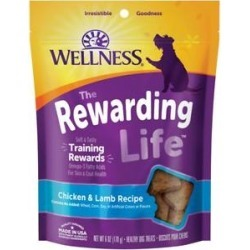 Wellness WellBites Chicken & Lamb Recipe Soft & Chewy Grain-Free Dog Treats, 6-oz bag
