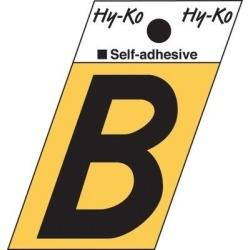 Hy-Ko 2 in. Surface Mount House LetterMetal in Black, Size 2.0 H x 1.0 W x 0.03 D in   Wayfair GR-10/B found on Bargain Bro Philippines from Wayfair for $26.20