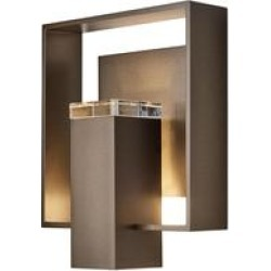 Hubbardton Forge Shadow Box 11 Inch Tall 1 Light Outdoor Wall Light - 302603-1058 found on Bargain Bro from Capitol Lighting for USD $660.44