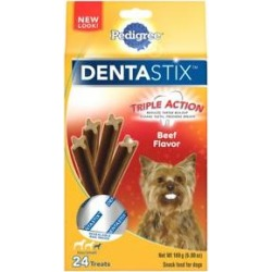 Pedigree Dentastix Beef Mini Dental Dog Treats, 24 count