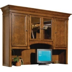 Solid Wood Executive Office Hutch Top - Home Office, Brown found on Bargain Bro Philippines from Overstock for $2749.00