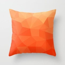 Couch Throw Pillow | Gradient Between Pure Red And Orange by Alisa Galitsyna - Cover (16