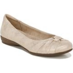 Women's Gift Ballet Flat by Naturalizer in Gold Fabric (Size 8 M) found on Bargain Bro from fullbeauty for USD $45.59