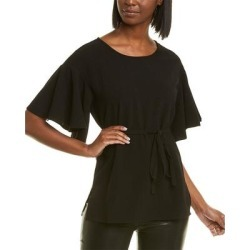 Natori Solid Crepe Top (8), Women's, Black(polyester) found on Bargain Bro India from Overstock for $19.79