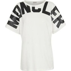 Neck Logo T Shirt - White - Moncler Tops found on Bargain Bro India from lyst.com for $260.00