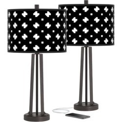 Crossroads Susan Dark Bronze USB Table Lamps Set of 2 found on Bargain Bro Philippines from LAMPS PLUS for $149.99