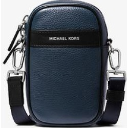 Michael Kors Greyson Pebbled Leather Smartphone Crossbody Bag Blue One Size found on Bargain Bro Philippines from Michael Kors for $168.00