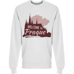 Prague Castle St Vitus Cathedral Sweatshirt Men's -Image by Shutterstock (M), White(cotton) found on Bargain Bro Philippines from Overstock for $24.99