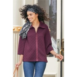 Women Dorothy Pullover Top by Soft Surroundings, in Vermillion Purple size 1X (18-20)