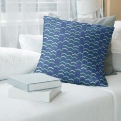 Porch & Den Athens Lined Chevrons Throw Pillow (14 x 14 - Blue & Green - Synthetic Fiber) found on Bargain Bro from Overstock for USD $39.51