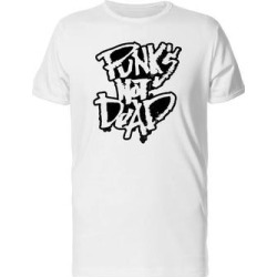 Punks Not Dead, Grunge Ink Tee Men's -Image by Shutterstock (M), White found on Bargain Bro from Overstock for USD $10.63
