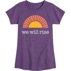 Instant Message Girls' Tee Shirts HEATHER - Heather Purple 'We Will Rise' Sun Short-Sleeve Tee - Toddler & Girls found on Bargain Bro from zulily.com for USD $9.11
