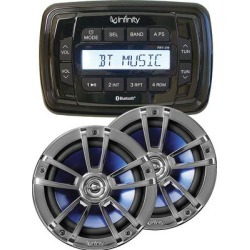 Infinity INF-MPK250 Marine Receiver & Speaker package found on Bargain Bro Philippines from Crutchfield for $369.99