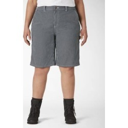 Dickies Women's Plus Hickory Stripe Carpenter Shorts - Blue White Size 20W (FRW28) found on Bargain Bro from Dickies.com for USD $22.79